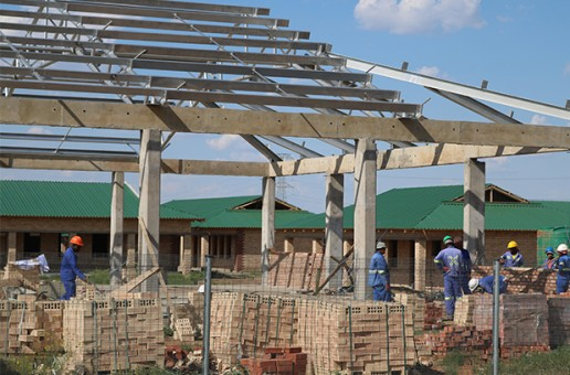 Construction work at Grassland primary taking shape